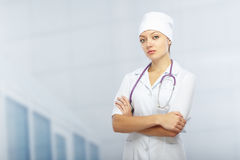 Doctor in the clinic Royalty Free Stock Photo