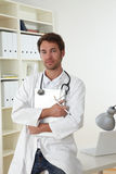 Doctor in clinic Royalty Free Stock Photography
