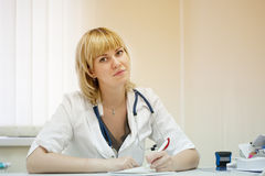 Doctor in clinic interior Stock Photo