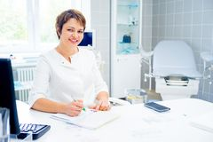 Doctor in a clinic Stock Images