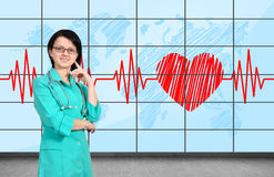 Doctor in clinic Stock Photos