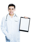 Doctor with clip folder Royalty Free Stock Photos