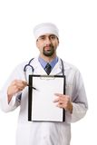 Doctor with clipboard Stock Photo