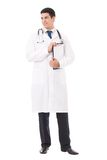 Doctor with clipboard, isolated Royalty Free Stock Images