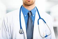 Doctor closeup. Detail of a doctor uniform Stock Photos