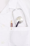 Doctor Coat Pocket Royalty Free Stock Images