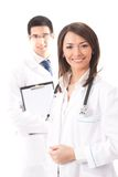 Doctor and colleague, isolated Royalty Free Stock Photography