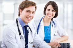 Doctor and collegue Royalty Free Stock Photos