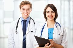 Doctor and collegue Stock Image