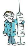 Doctor coloreado exhausto Fotografía de archivo