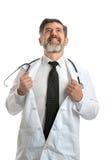 Doctor como héroe Fotos de archivo