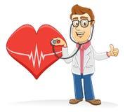 Doctor - compruebe su corazón Fotografía de archivo libre de regalías