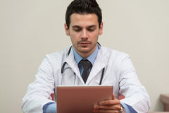 Doctor With Computer Stock Photos