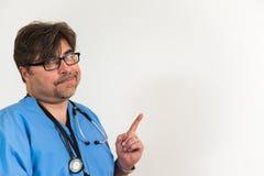 Doctor con área de texto Imagen de archivo libre de regalías