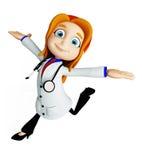 Doctor con actitud de funcionamiento foto de archivo libre de regalías
