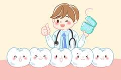 Doctor con concepto dental del diente Foto de archivo libre de regalías
