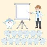 Doctor con el diente dental Fotos de archivo