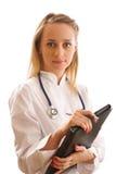 Doctor con el estetoscopio Foto de archivo libre de regalías