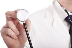 Doctor con el estetoscopio. Imágenes de archivo libres de regalías