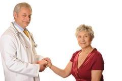 Doctor con el paciente Foto de archivo libre de regalías