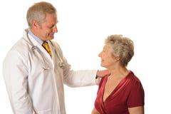 Doctor con el paciente Imagen de archivo libre de regalías