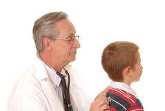 Doctor con el paciente Foto de archivo