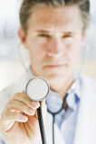Doctor con el stethescope Imagen de archivo