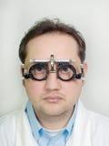 Doctor con la lente Fotografía de archivo libre de regalías