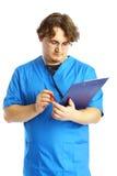 Doctor con la libreta Fotografía de archivo