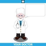 Doctor con la nube vacía del diálogo Imagen de archivo libre de regalías