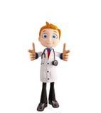 Doctor con señalar actitud Imagen de archivo libre de regalías