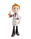 Doctor con señalar actitud Fotografía de archivo