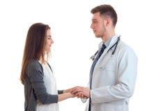 Doctor con su paciente en estudio Foto de archivo