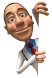 Doctor con una muestra en blanco Foto de archivo