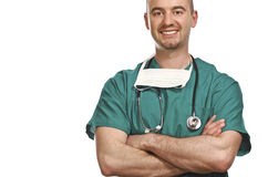 Doctor confidente Imagen de archivo libre de regalías
