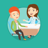 Doctor consulting female patient in office. Stock Photography