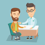 Doctor consulting male patient in office. Royalty Free Stock Image
