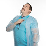 Doctor control himself heart beat Royalty Free Stock Photography