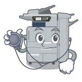 Doctor copier machine in the cartoon shape. Vector illustration stock illustration