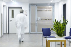 Doctor corridor door Royalty Free Stock Photography