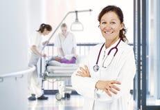 Doctor corridor nursing team Stock Images