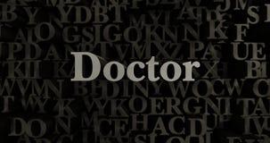 Doctor - 3D rendered metallic typeset headline illustration Stock Images