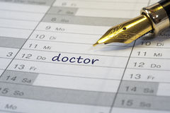 Doctor date Royalty Free Stock Photos