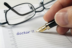 Doctor date Stock Images