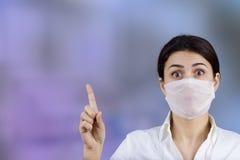 Doctor de la hembra de la muestra de la prevención imagen de archivo libre de regalías
