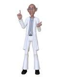 Doctor de la historieta 3d Imágenes de archivo libres de regalías