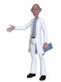Doctor de la historieta 3d que presenta algo Fotos de archivo