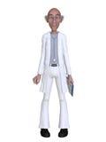Doctor de la historieta 3d que presenta algo Foto de archivo