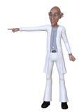 Doctor de la historieta 3d que señala en algo Foto de archivo libre de regalías