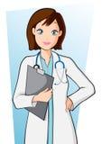 Doctor de la mujer stock de ilustración